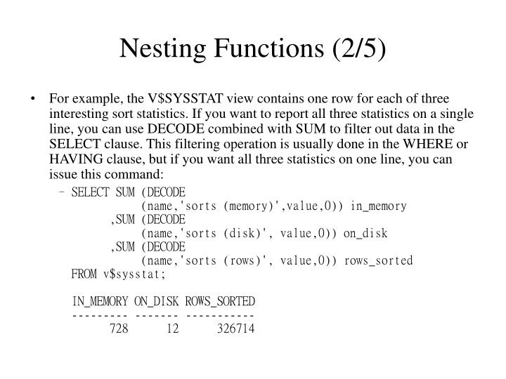Nesting Functions (2/5)