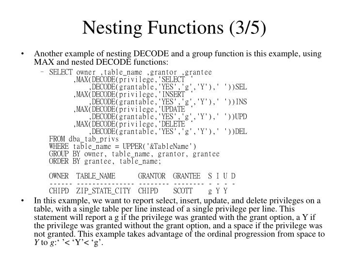 Nesting Functions (3/5)