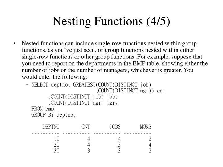 Nesting Functions (4/5)