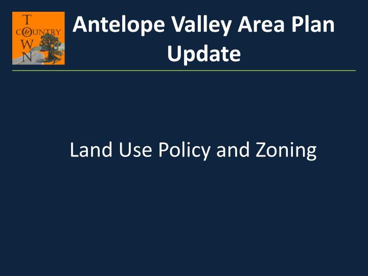 Antelope Valley Area Plan Update