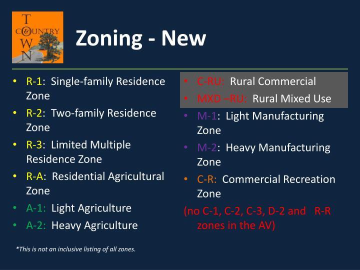 Zoning - New