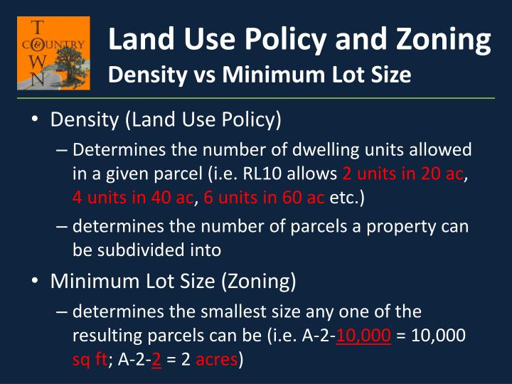 Land Use Policy and Zoning