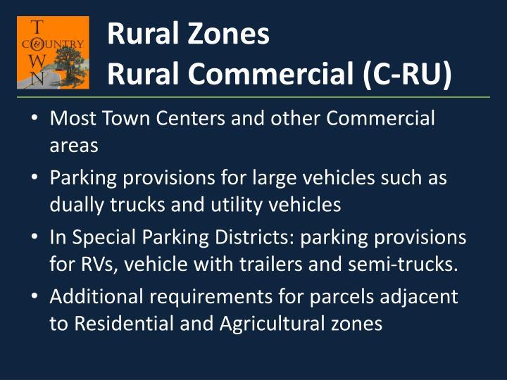 Rural Zones