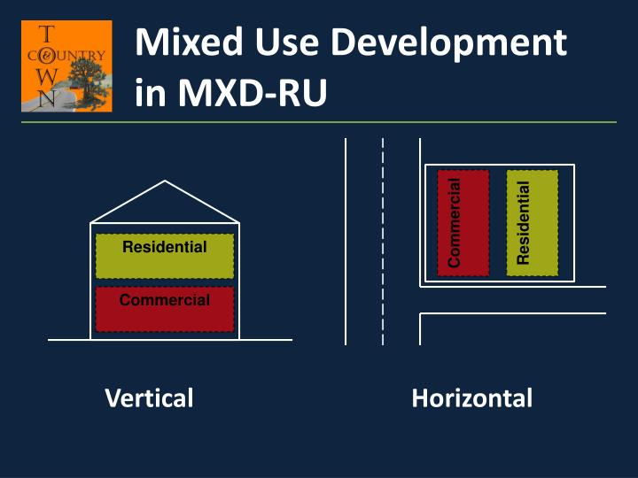 Mixed Use Development in MXD-RU