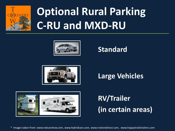 Optional Rural Parking
