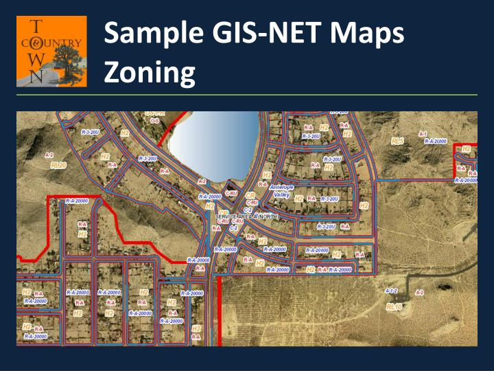 Sample GIS-NET Maps