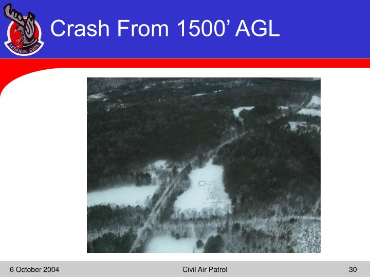 Crash From 1500' AGL