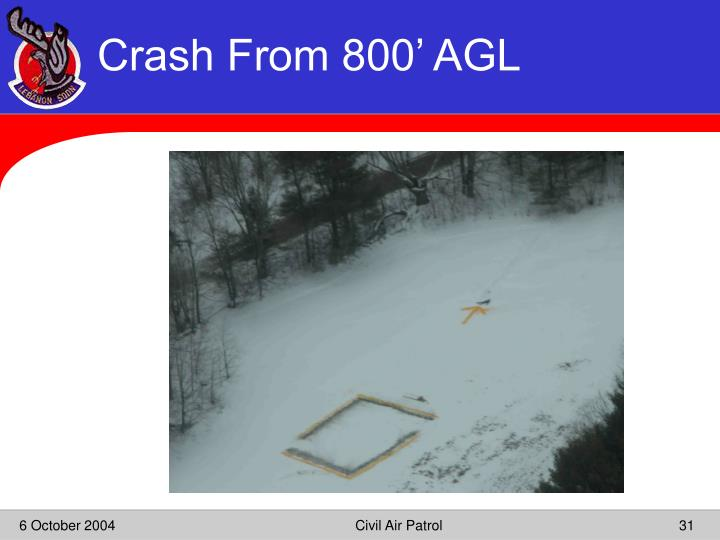 Crash From 800' AGL