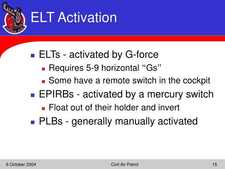 ELT Activation
