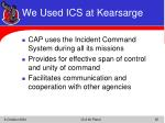 we used ics at kearsarge