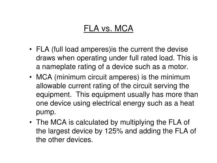 FLA vs. MCA
