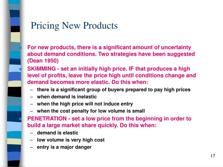 Pricing New Products