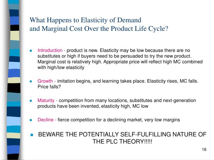 What Happens to Elasticity of Demand