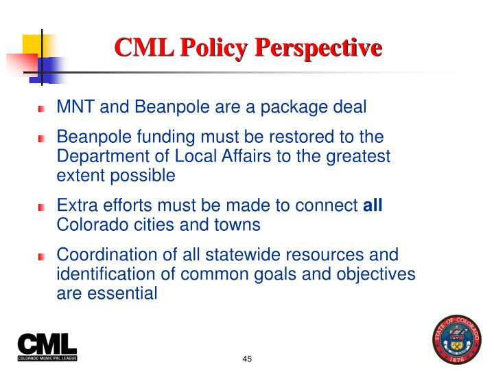CML Policy Perspective