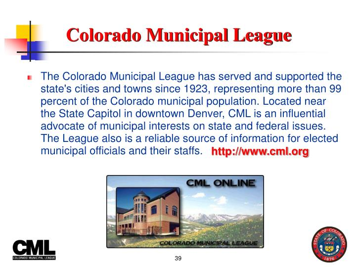 Colorado Municipal League