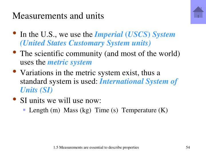 Measurements and units