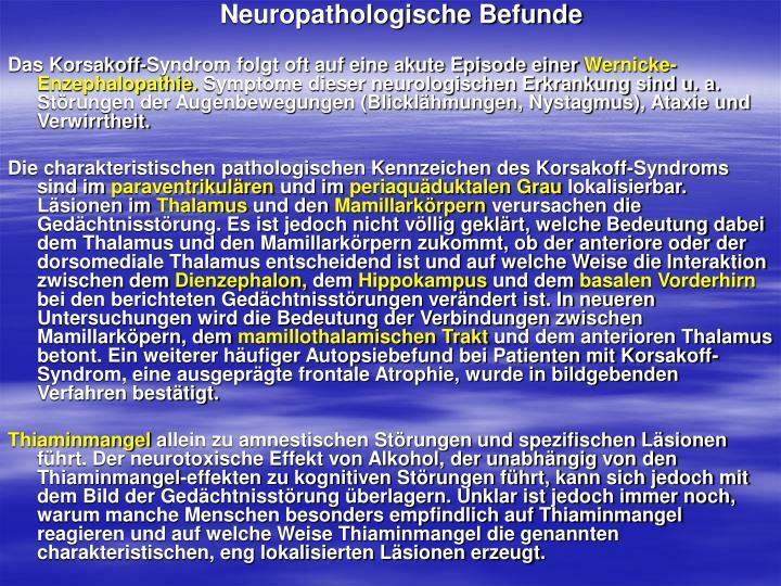 Neuropathologische Befunde