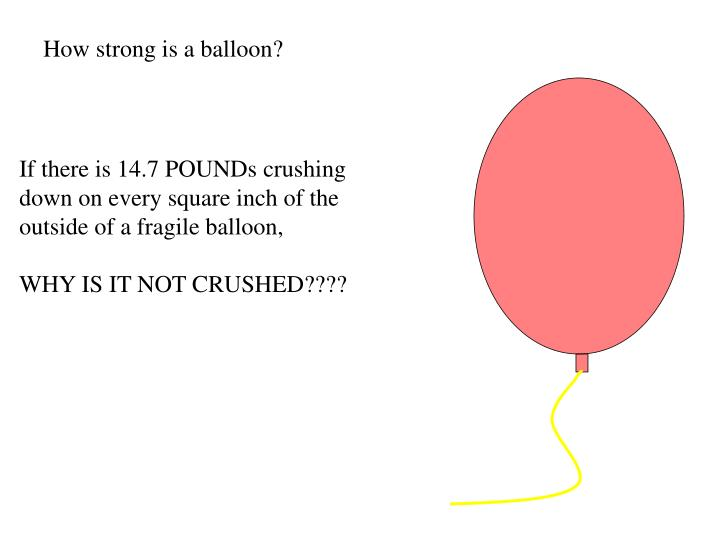 How strong is a balloon?