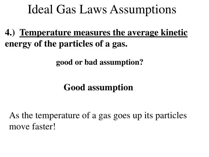 Ideal Gas Laws Assumptions