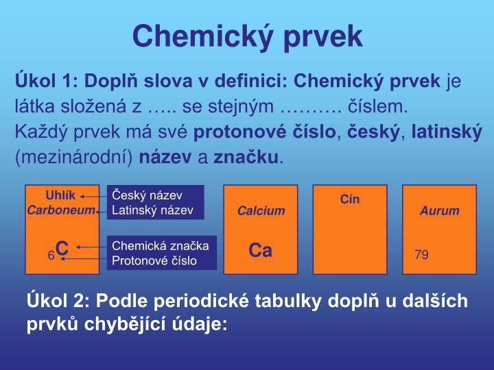 Chemický prvek