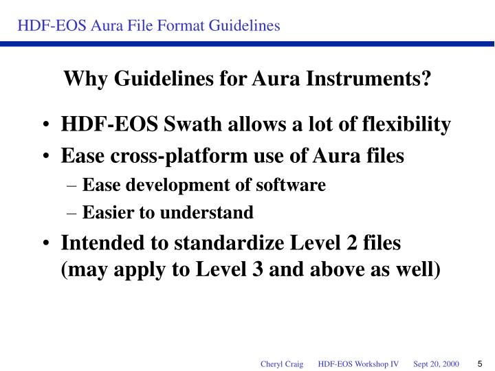 HDF-EOS Swath allows a lot of flexibility