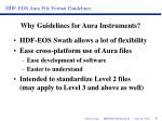 why guidelines for aura instruments