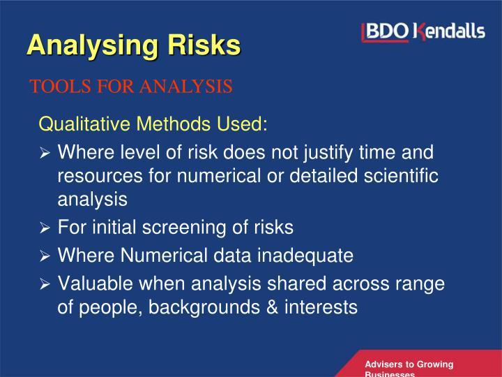 Analysing Risks