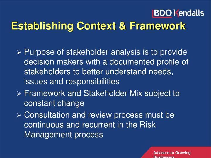 Establishing Context & Framework