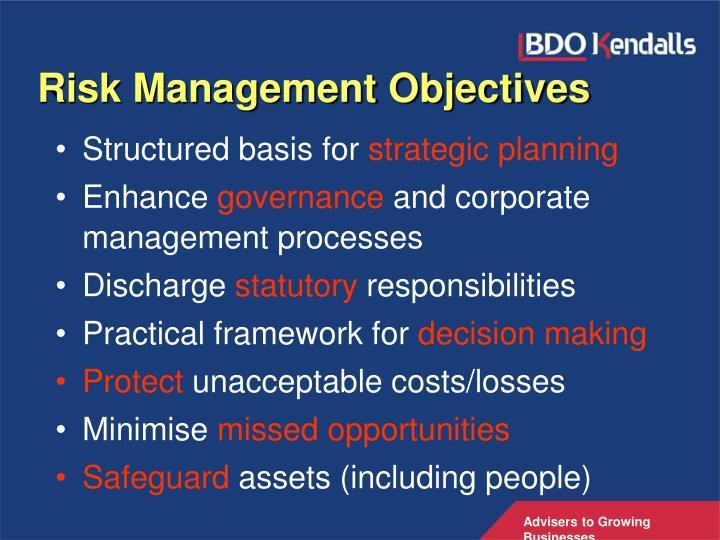 Risk Management Objectives