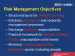 risk management objectives