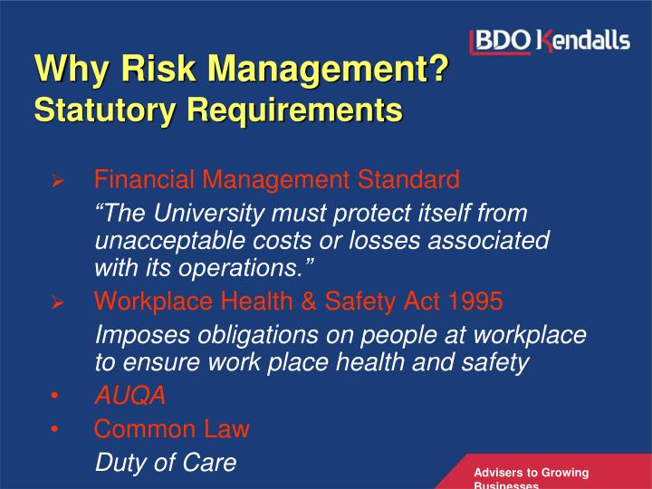 Why Risk Management?