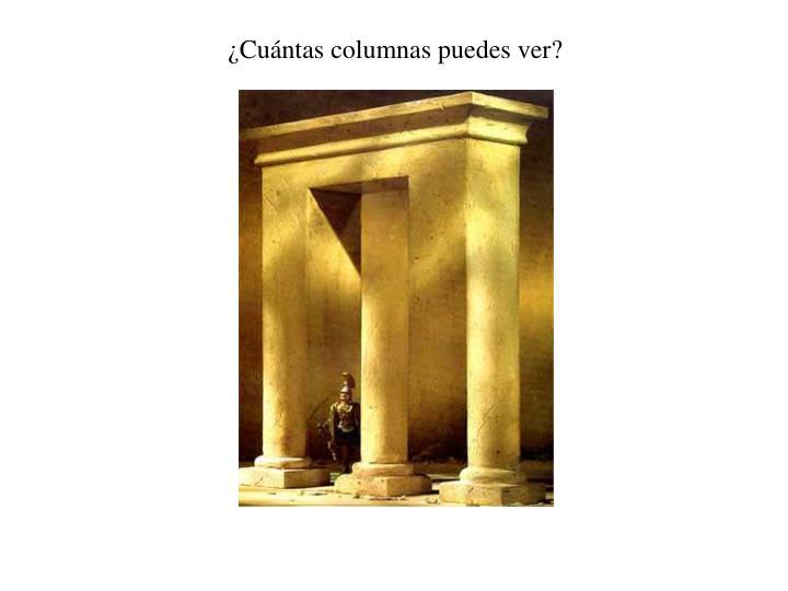 ¿Cuántas columnas puedes ver?