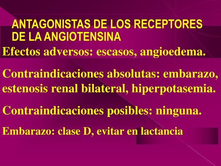 ANTAGONISTAS DE LOS RECEPTORES DE LA ANGIOTENSINA