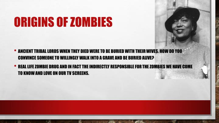 Origins of zombies