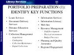 portfolio preparation 1 identify key functions