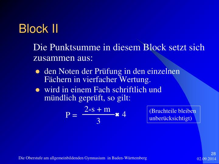 Block II