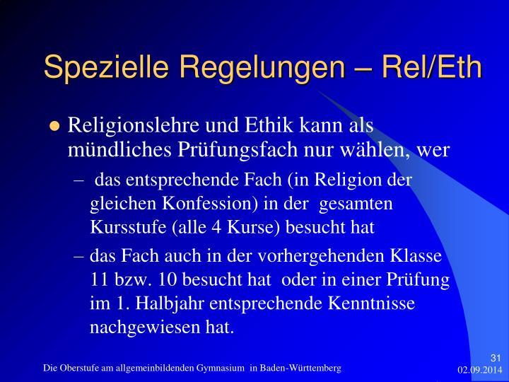 Religionslehre und Ethik kann als mündliches Prüfungsfach nur wählen, wer