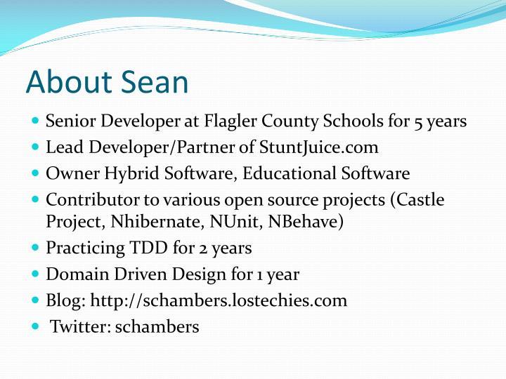 About Sean