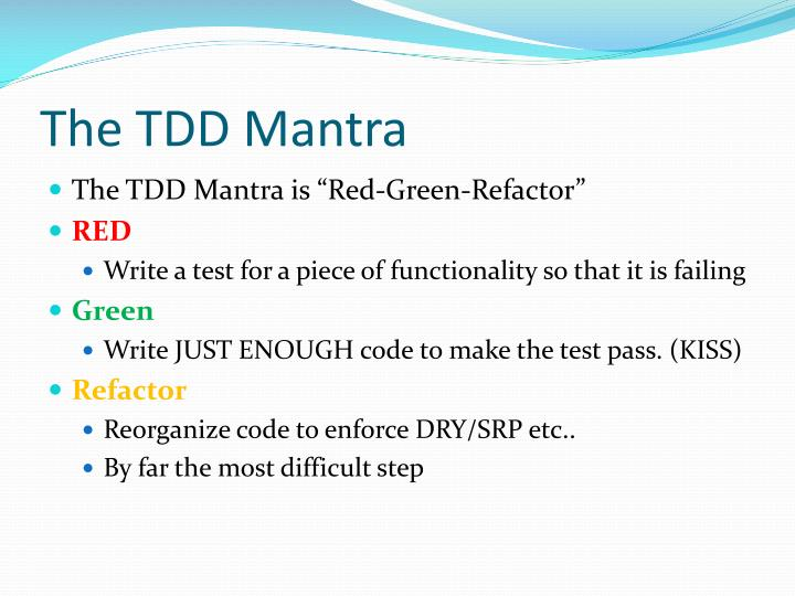 The TDD Mantra