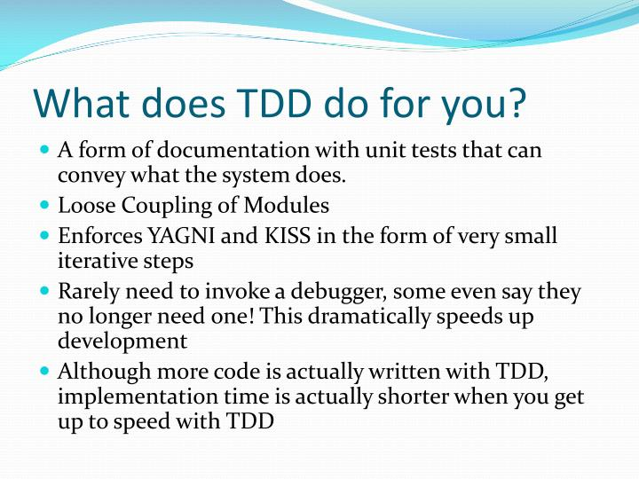 What does TDD do for you?