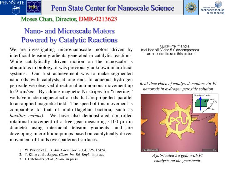 Penn State Center for Nanoscale Science