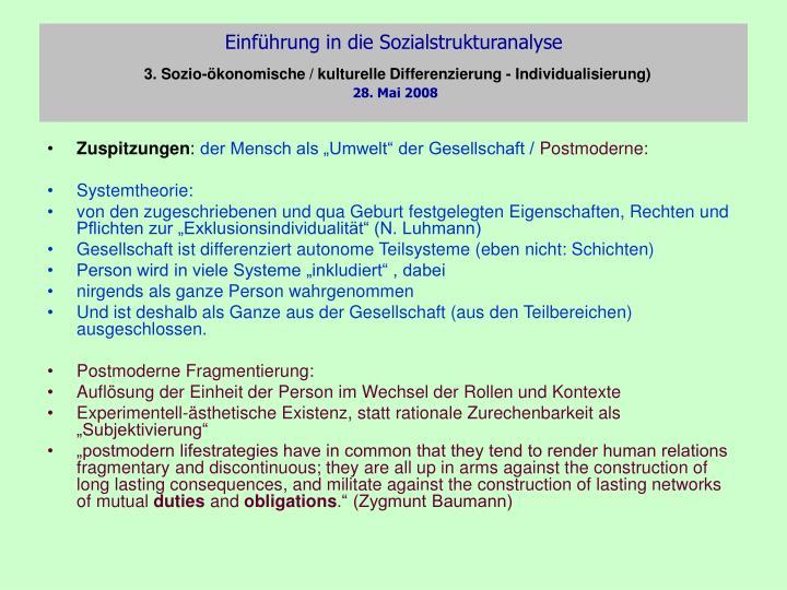 Einführung in die Sozialstrukturanalyse