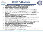 2003 4 publications