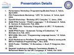 presentation details