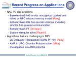 recent progress on applications