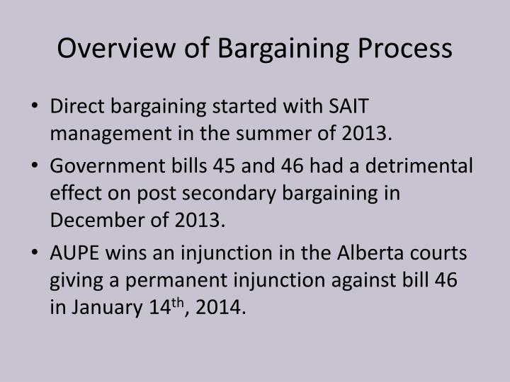 Overview of bargaining process