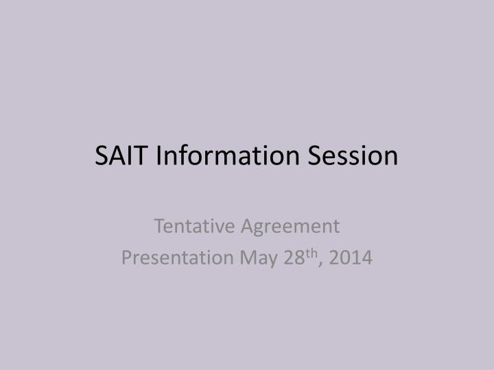 sait information session