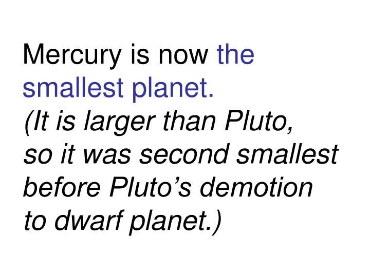 Mercury is now