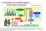 potential co 2 to meoh in industry
