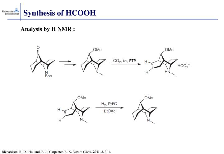 Synthesis of HCOOH